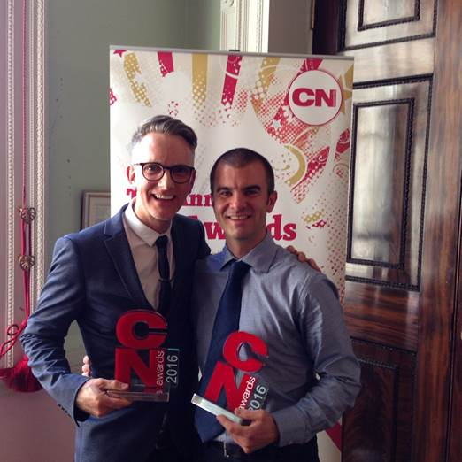 Sean White and Nick Trott won the Nutrition Support Professional of the Year and Coeliac Professional of the Year titles respectively at the Clinical Nutrition Awards.