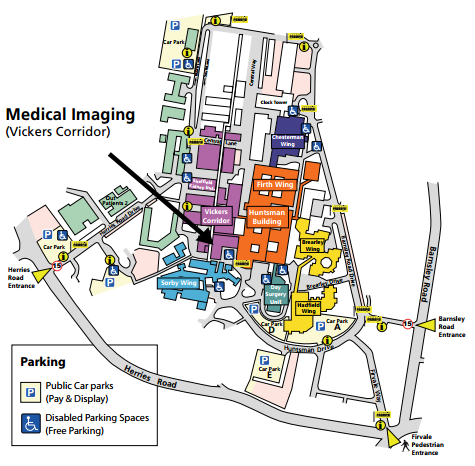 Northern General Map Sheffield Teaching Hospital   A Z of Services