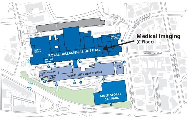 Royal Hallamshire Hospital Map Sheffield Teaching Hospital   A Z of Services